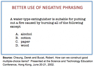 multiple choice question template