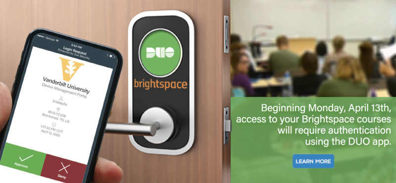 Additional security measure for logging into Brightspace goes into effect Monday, April 13