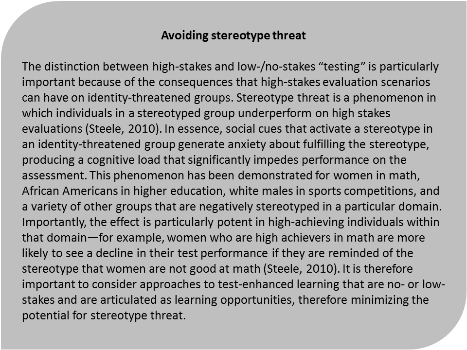an analysis of the stereotype threat How do i defeat threat stereotype responses and the self fulfilling prophecy in a social system where everybody thinks bad about me.