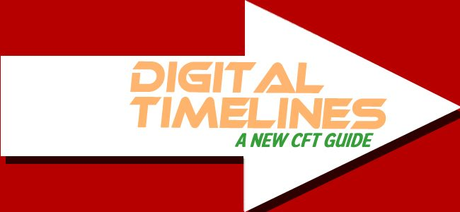 <small>The CFT hosted a group interested in exploring ways digital timeline tools could meet their instructional goals.  As a result, we have created a new guide to help you teach with digital timelines!